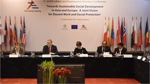 Social protection was the key theme in the third working session